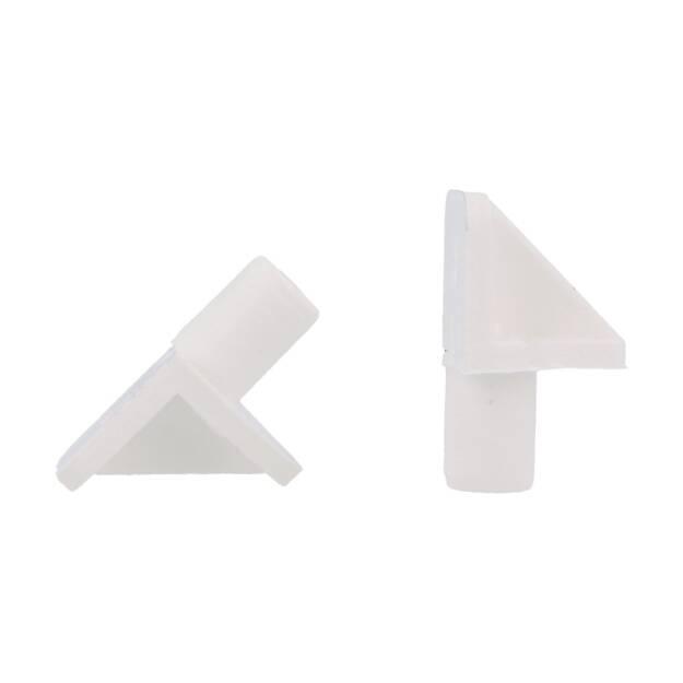 Wspornik Półki Wpuszczany Fi5mm Plastik Biały